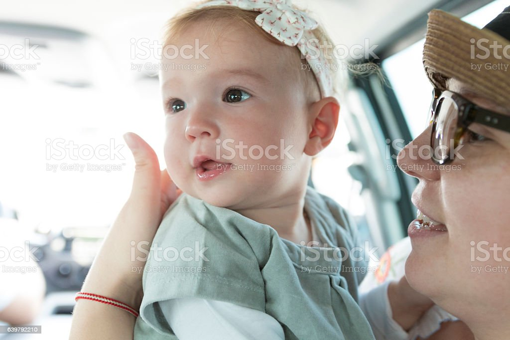 Momma can we go there! stock photo