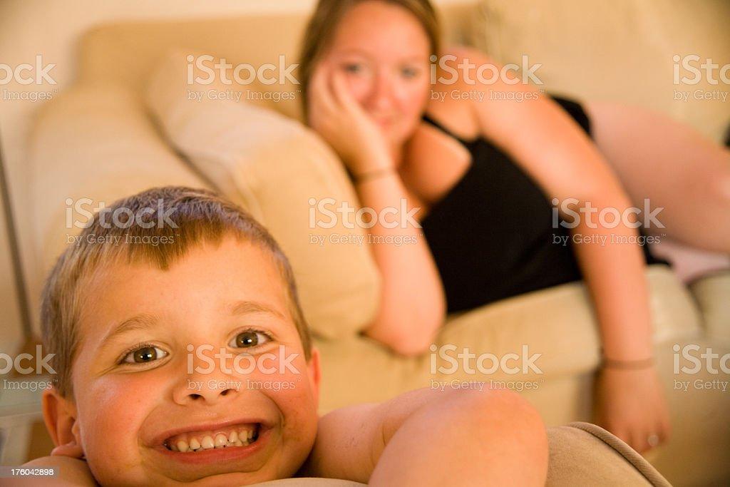 Momma's Boy royalty-free stock photo