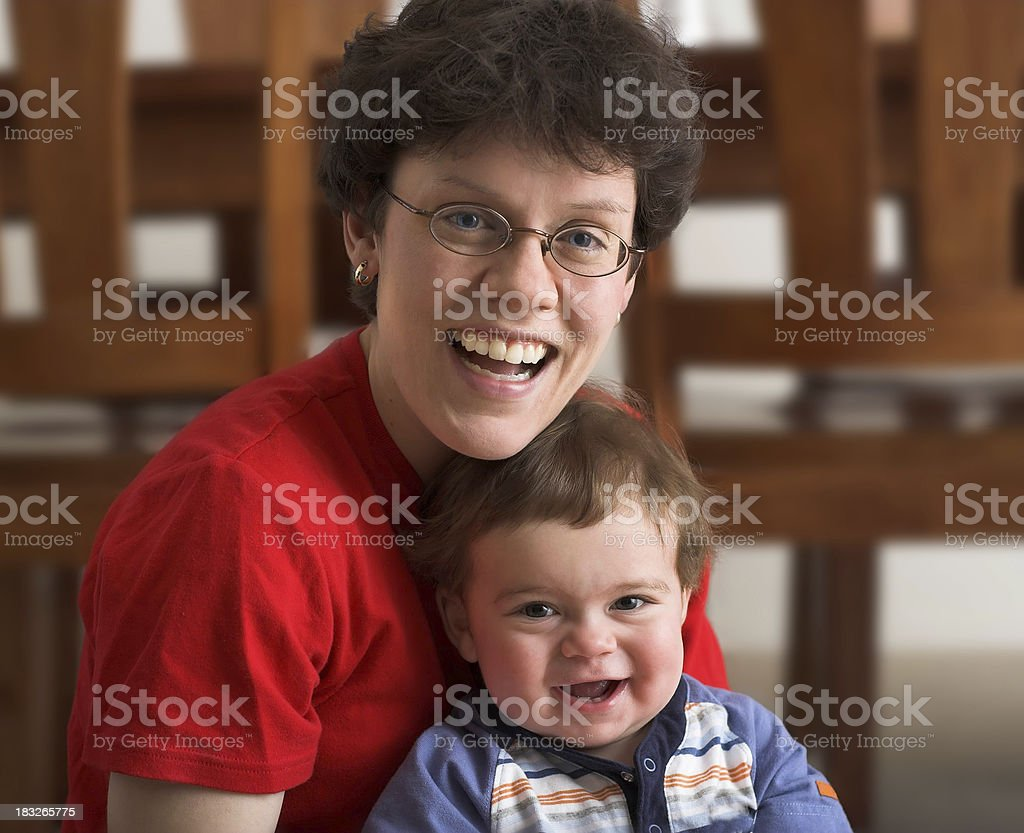 Mommy and Baby royalty-free stock photo