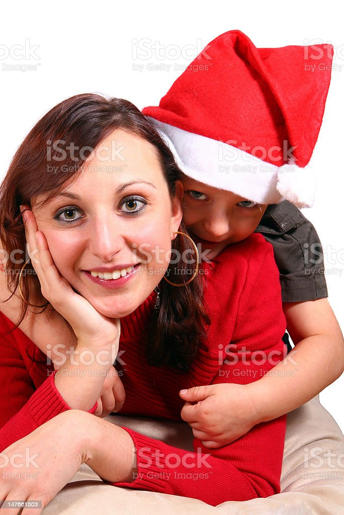Mommy And I Waiting For Christmas royalty-free stock photo