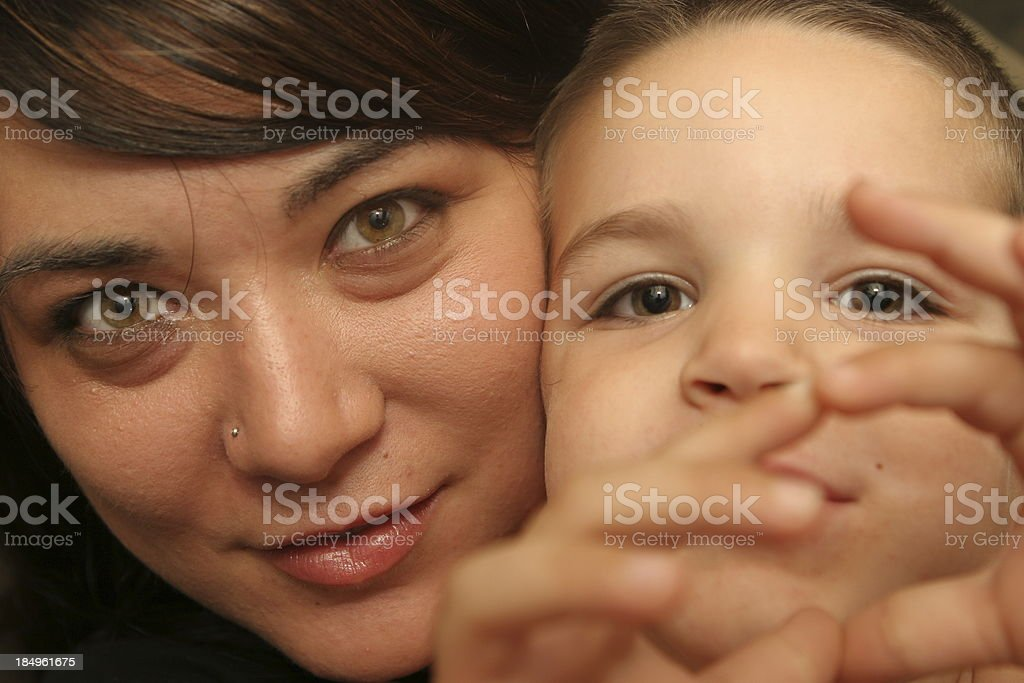 mommy and me royalty-free stock photo