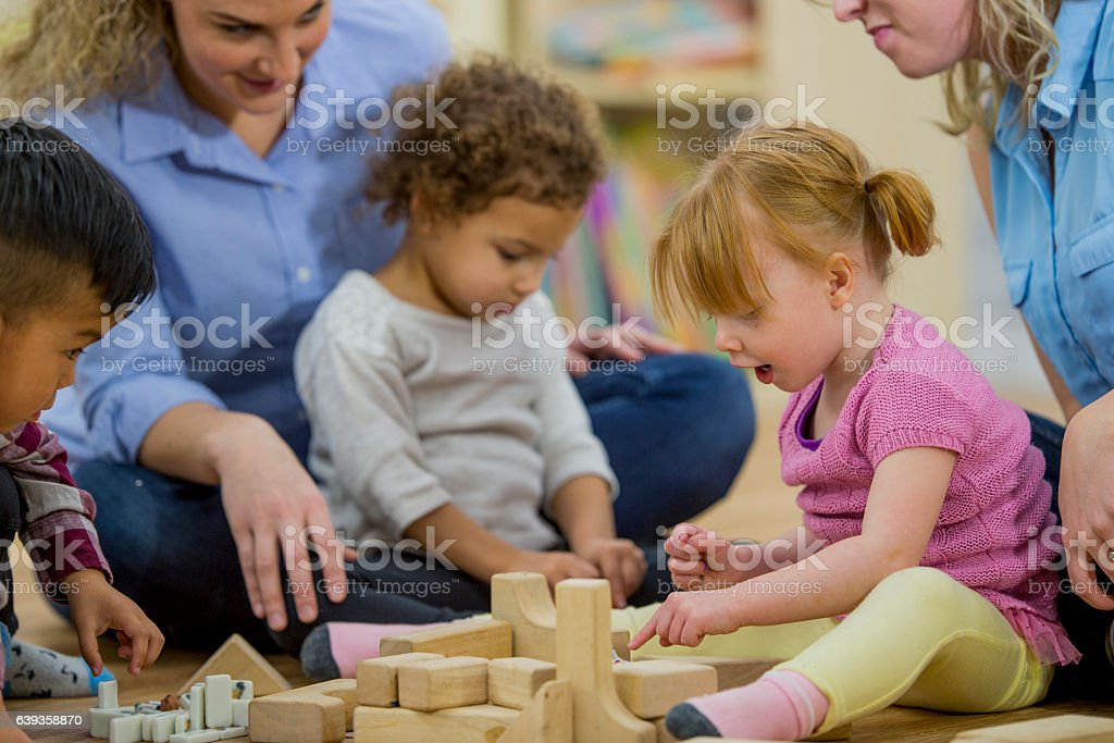 Mommy and Me Play Group stock photo