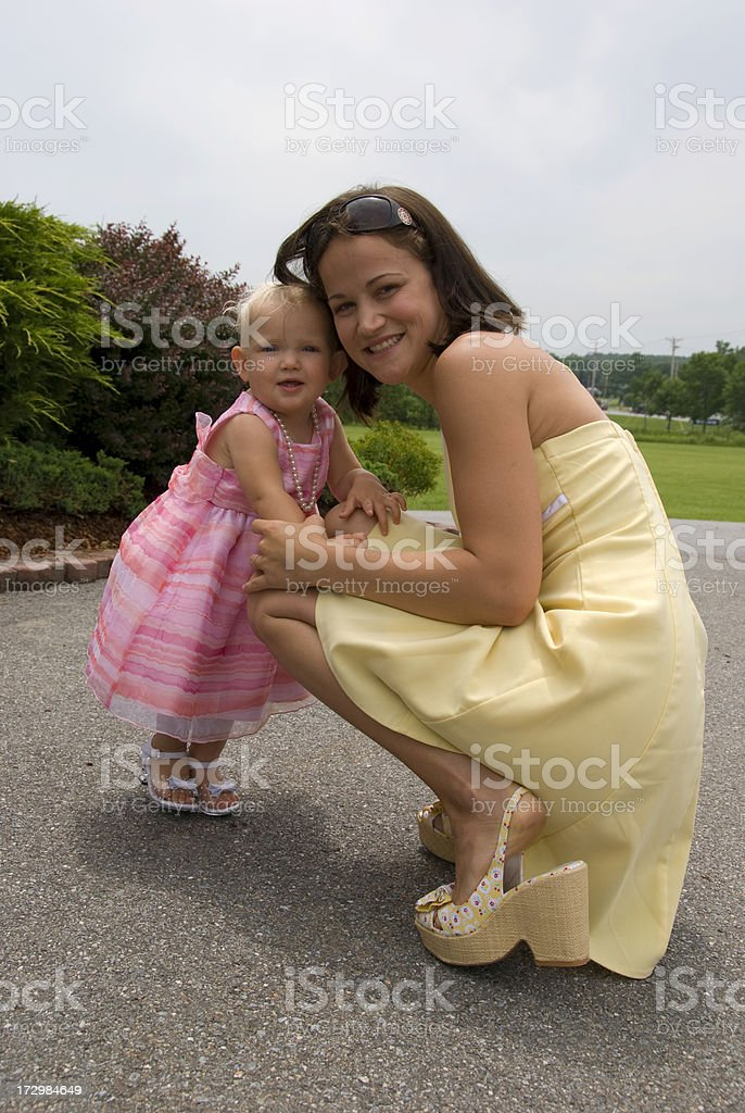 Mommy & Baby Girl royalty-free stock photo