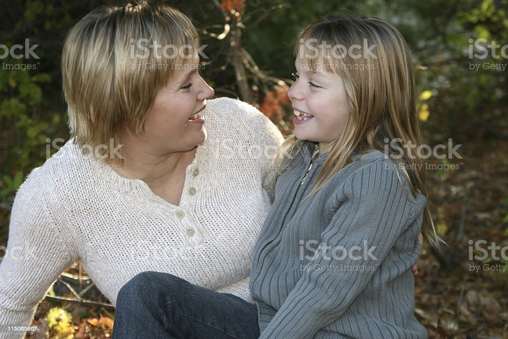 Mommy Moment with Daughter royalty-free stock photo