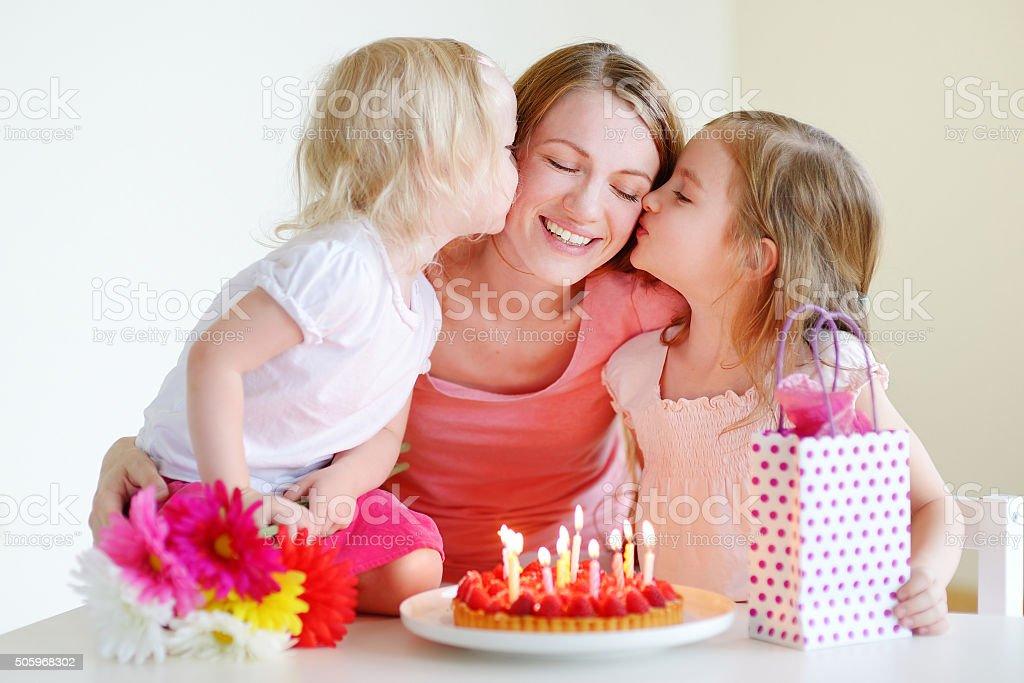 Mommy's birthday stock photo