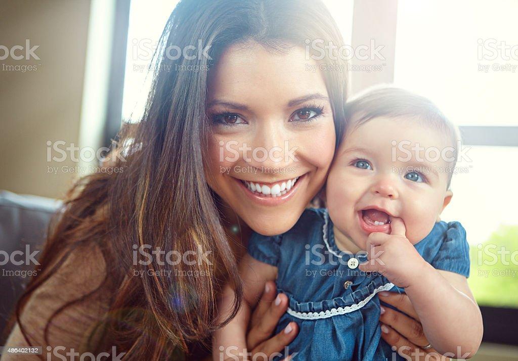 Mommy's little girl stock photo
