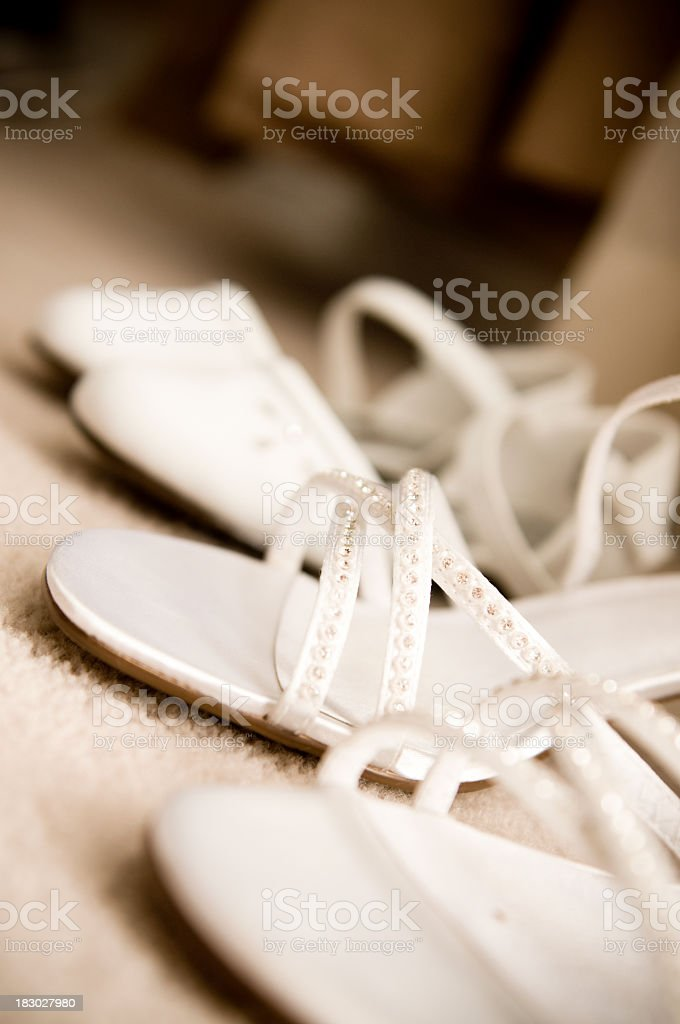 Mom's and girl's shoes royalty-free stock photo