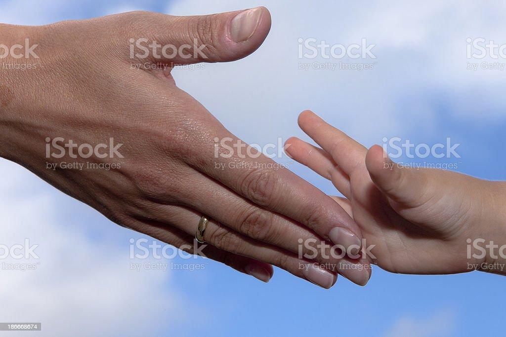 Mom?s hand royalty-free stock photo