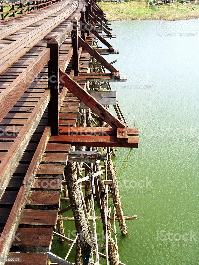 Mon Bridge, Kanchanaburi, Thailand photo before crash royalty-free stock photo