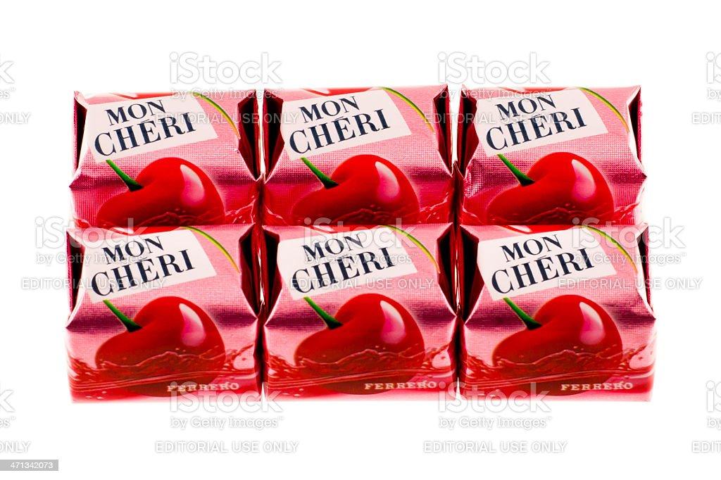 Mon Cheri Chocolate stock photo