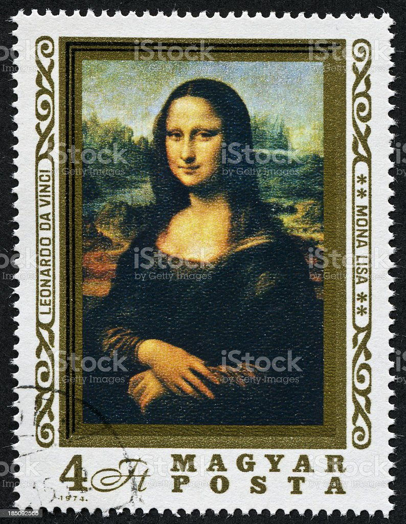 Mona Lisa Stamp stock photo