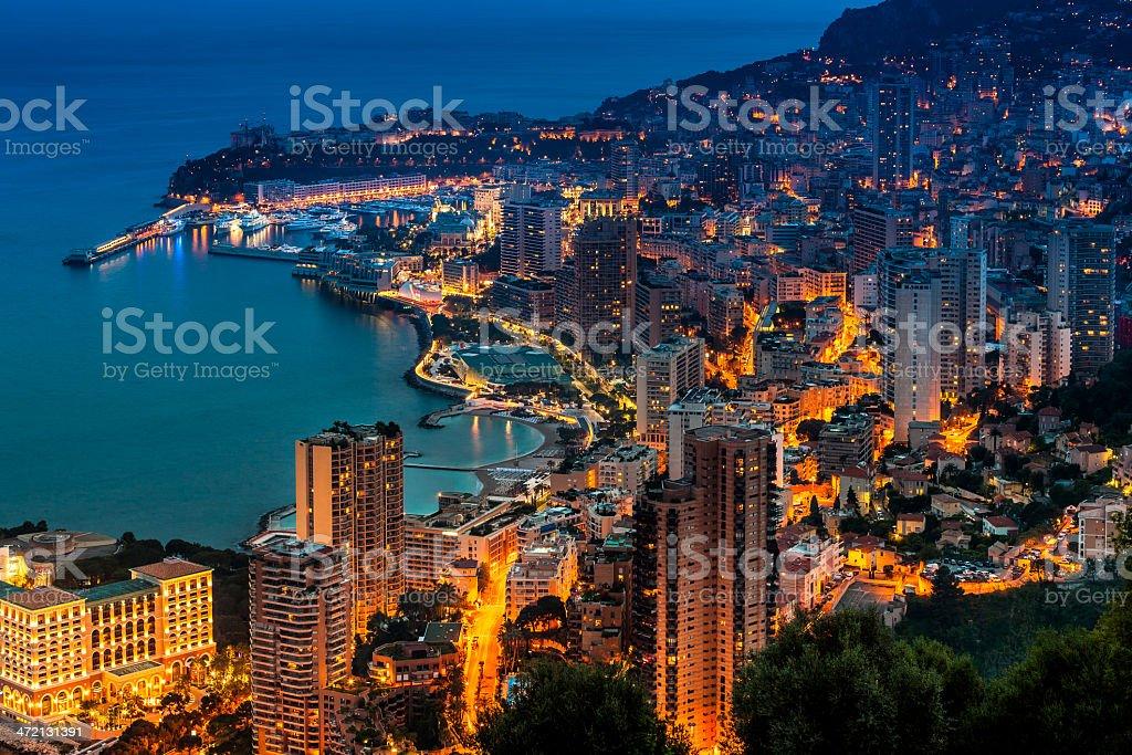 Monaco (Monte Carlo) Aerial View stock photo