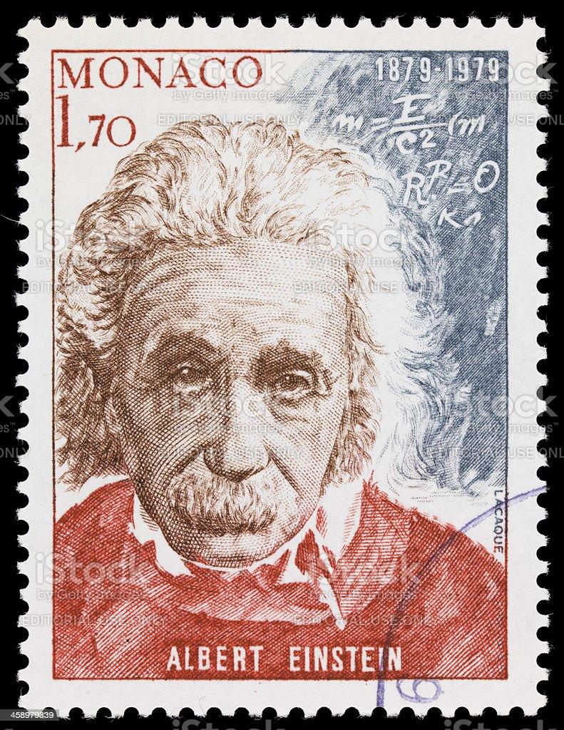 Monaco Albert Einstein postage stamp stock photo