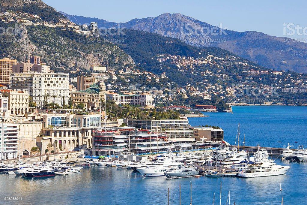 Monaco and the port stock photo