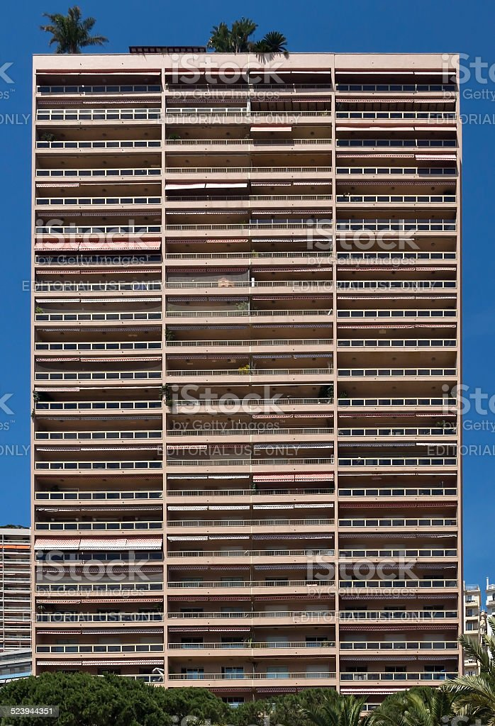 Monaco - Architecture of the city stock photo