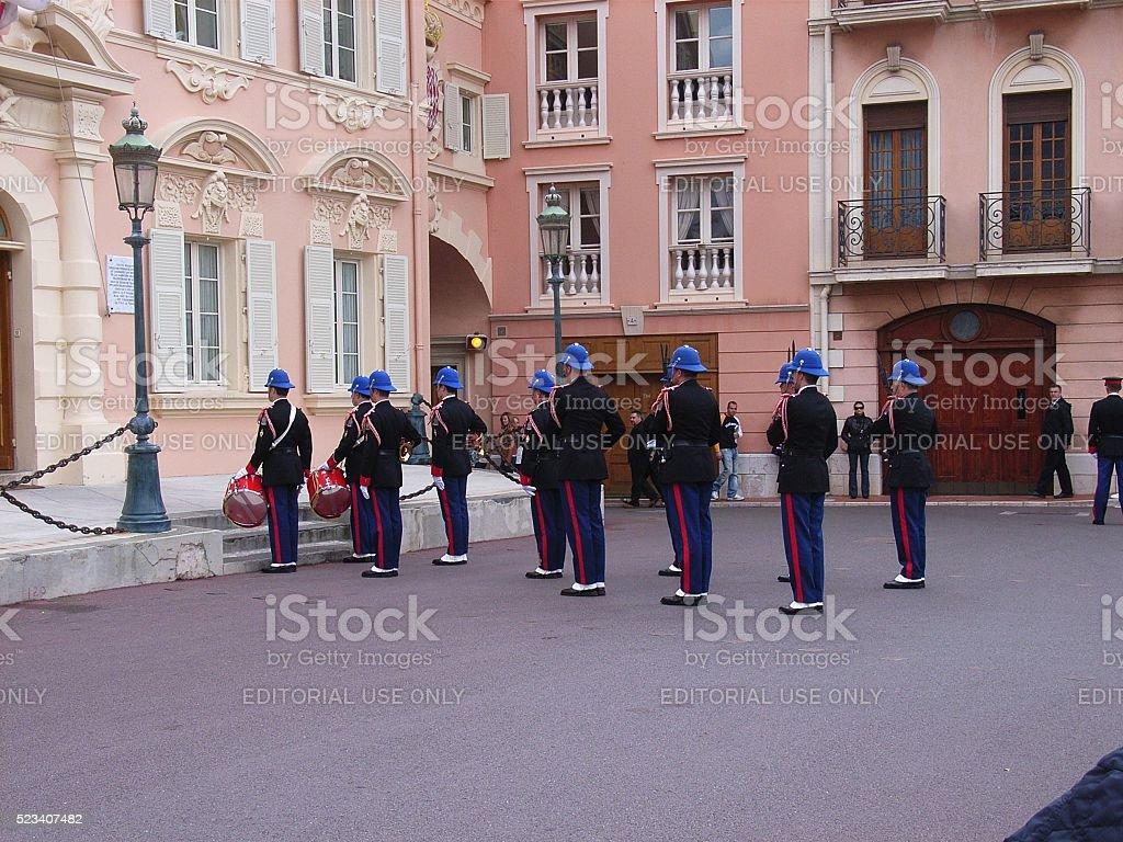 Monaco - Cambio della guardia stock photo