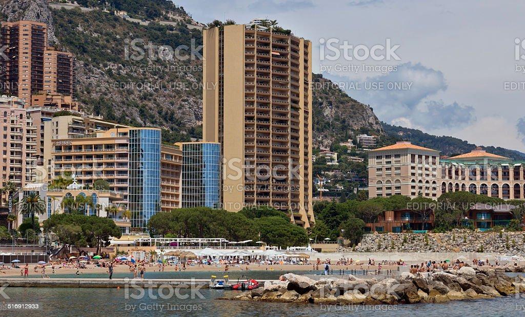Monaco - City Beach stock photo