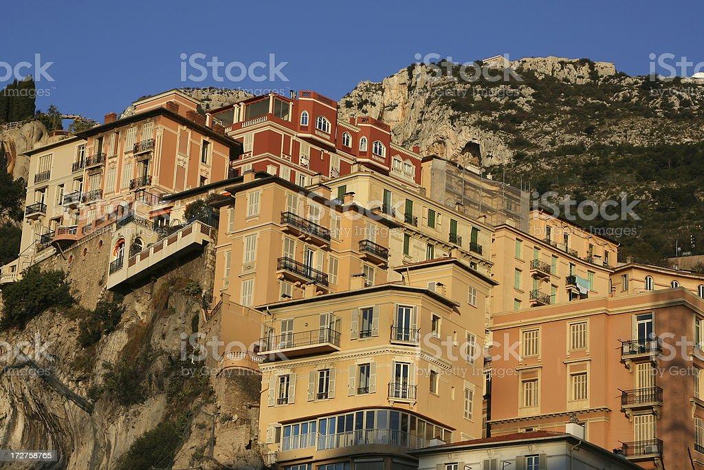 Monaco - Cliff Houses stock photo