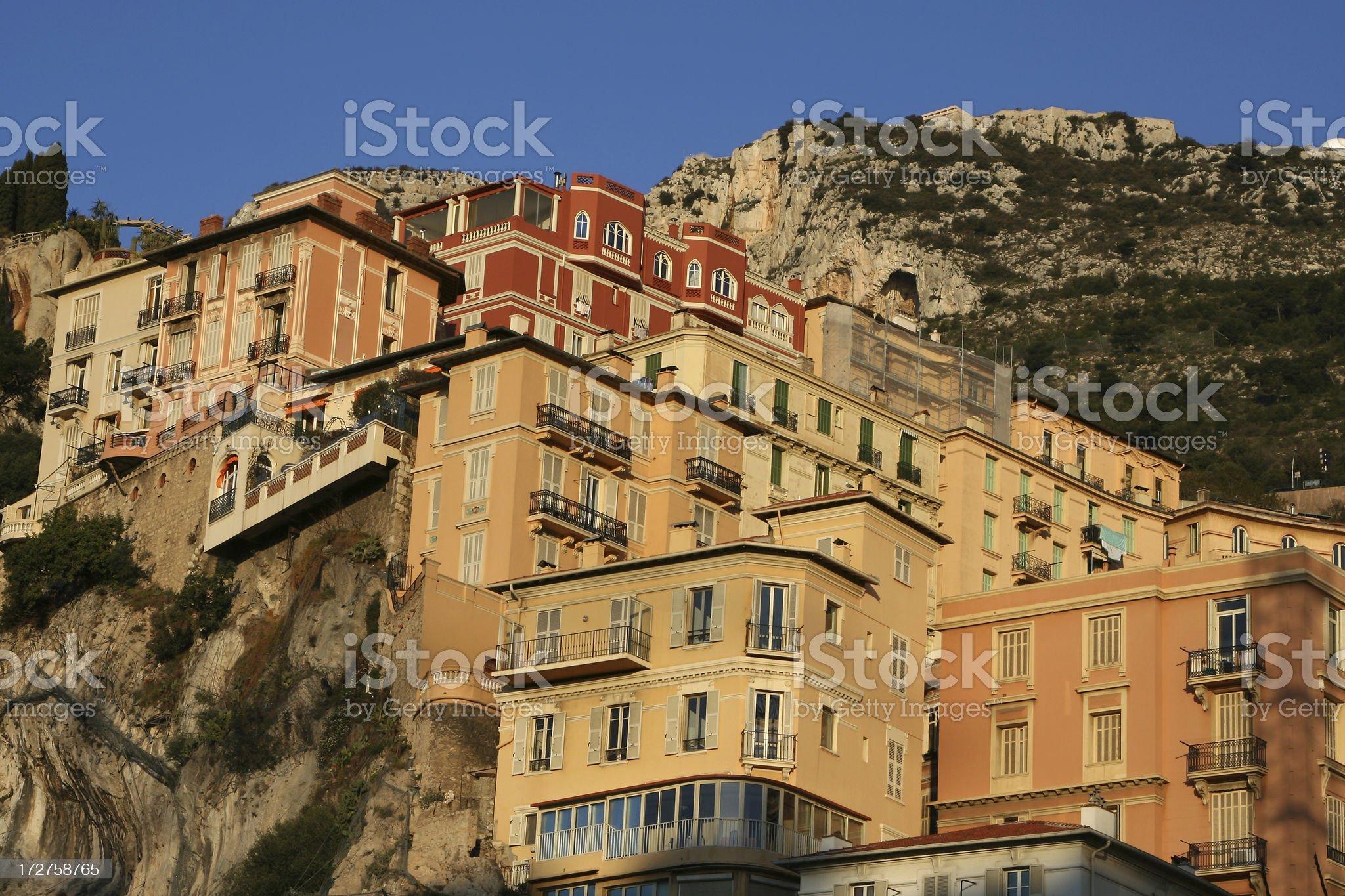 Monaco - Cliff Houses royalty-free stock photo