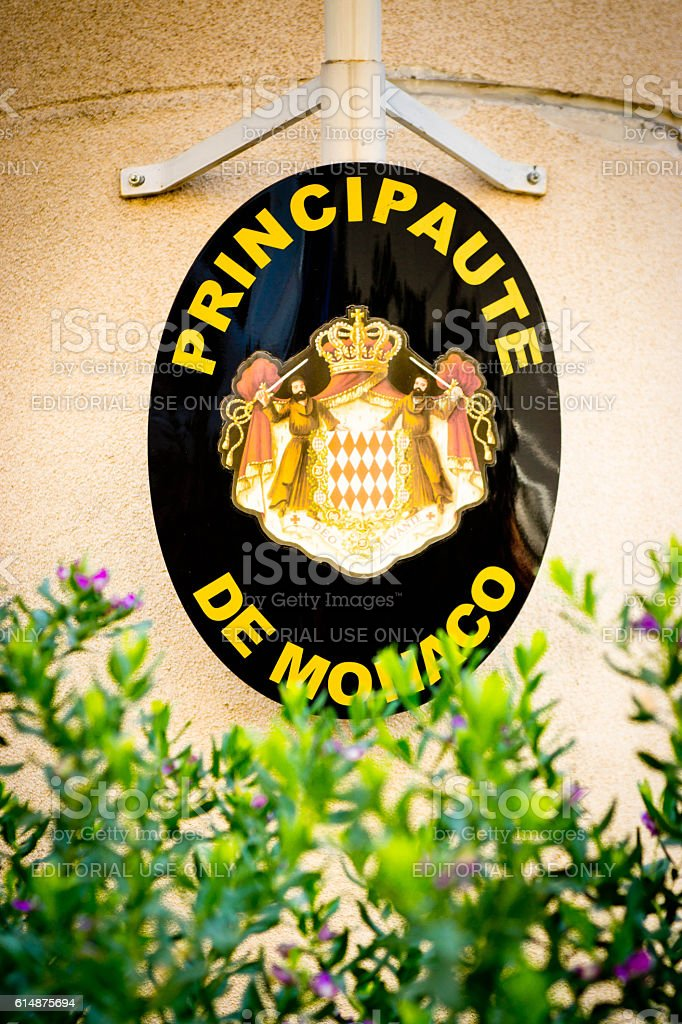 Monaco crest stock photo
