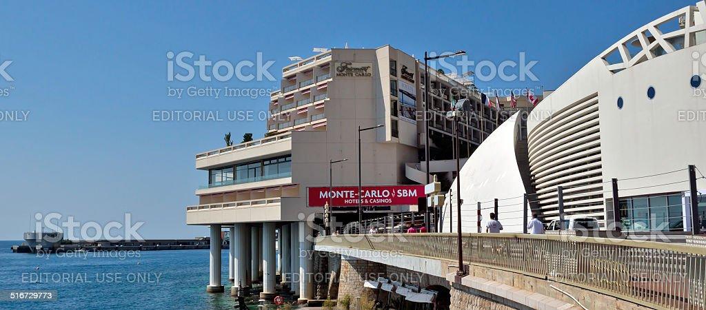 Monaco - Fairmont Monte Carlo Hotel stock photo
