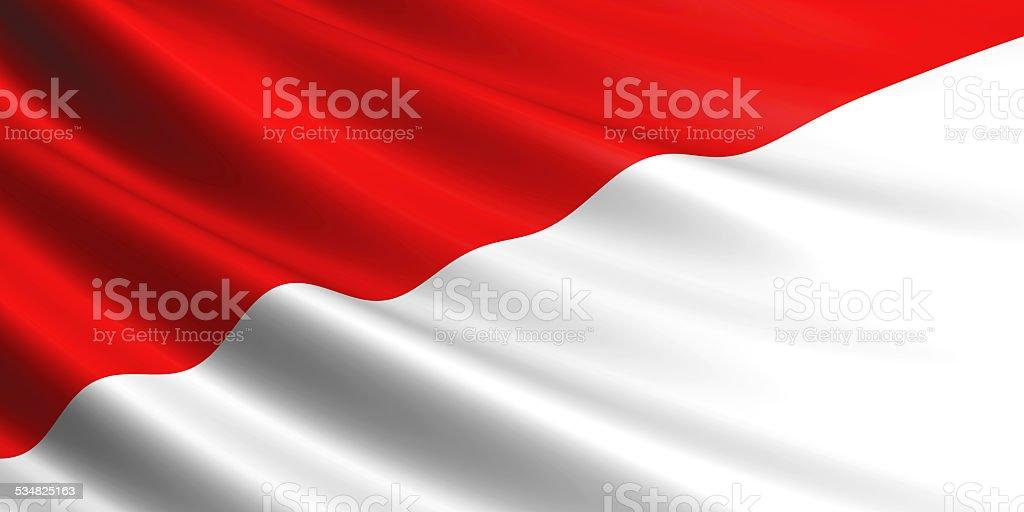 Monaco flag. royalty-free stock photo