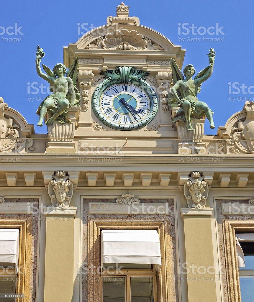 Monaco Grand Casino Clock stock photo