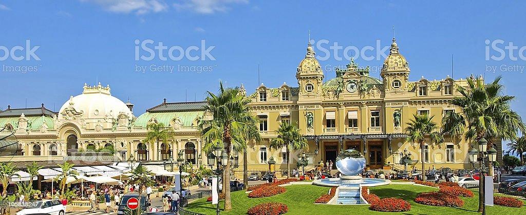 Monaco Grand Casino Panorama stock photo