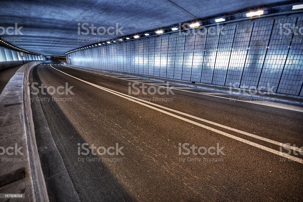 Monaco Grand Prix Tunnel stock photo
