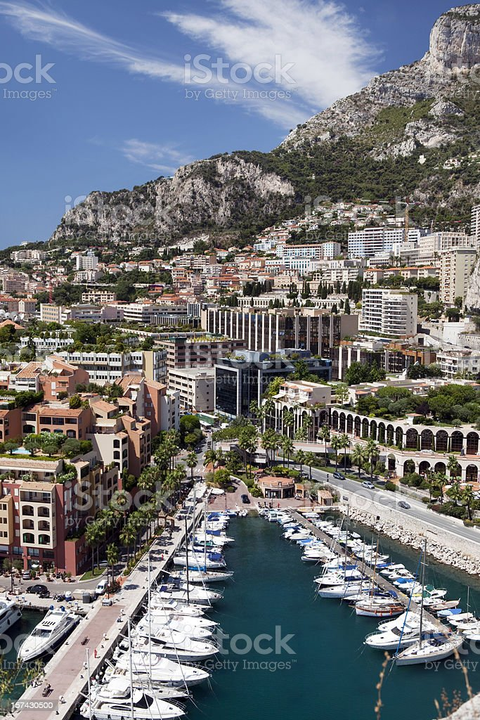 Monaco Harbor in Monte Carlo stock photo