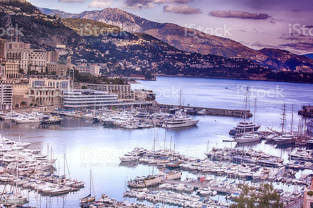Monaco Harbor stock photo