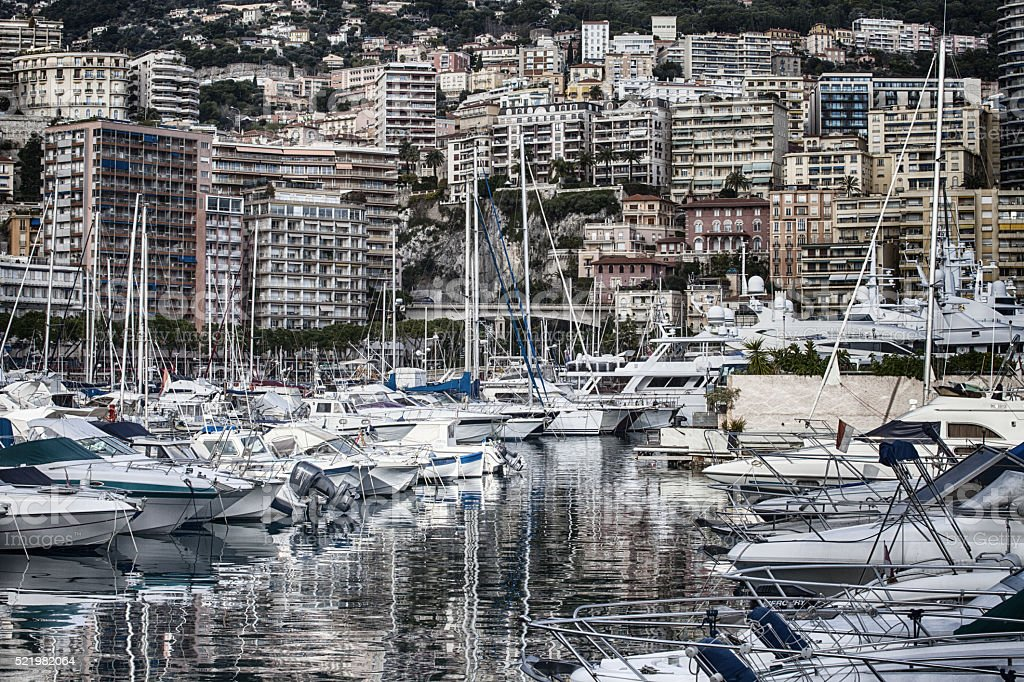 Monaco Harbor stock photo