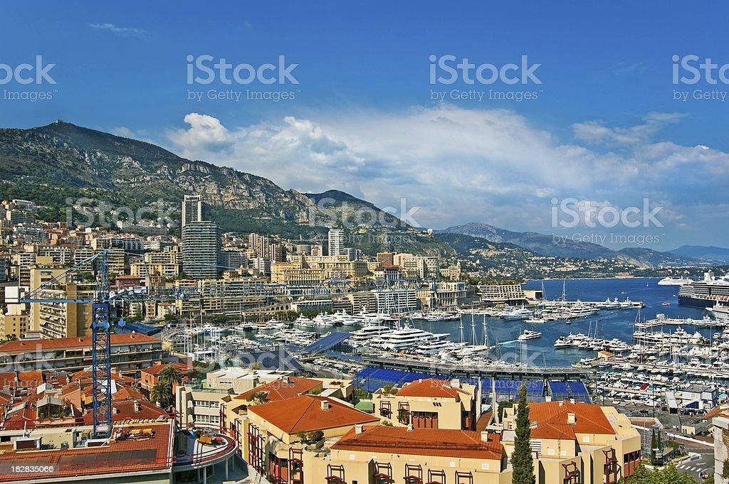 Monaco Harbor Scenic royalty-free stock photo