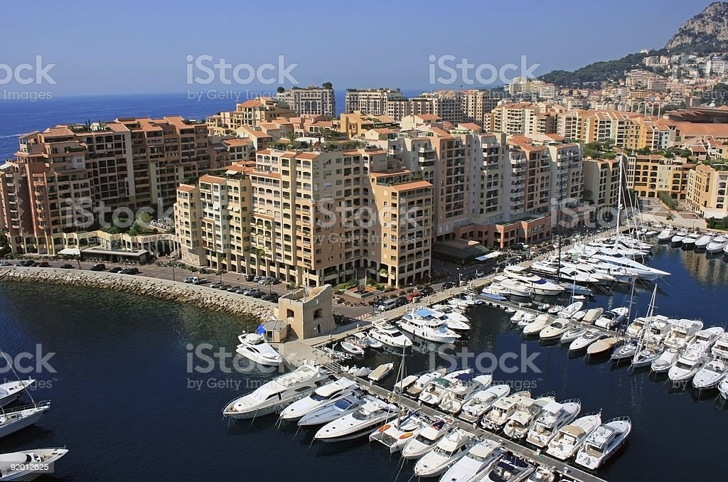 Monaco harbour 2 royalty-free stock photo
