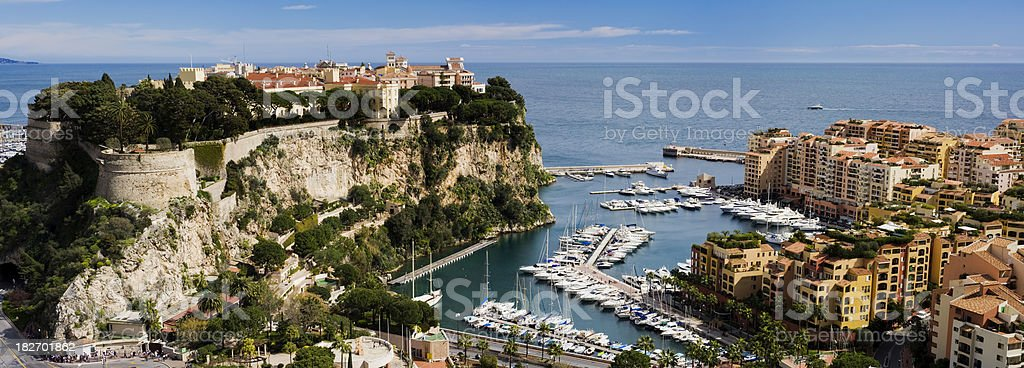 Monaco Harbour and Marina in Monte Carlo royalty-free stock photo