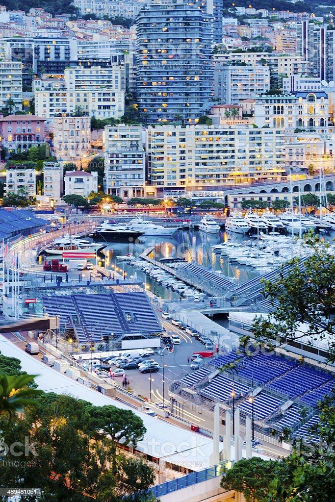 Monaco Harbour, Grand Prix stock photo