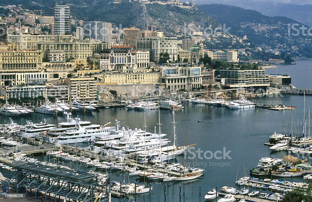 Monaco Harbour royalty-free stock photo