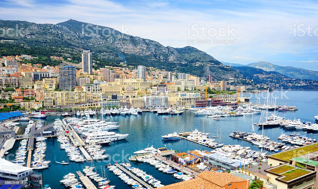 Monaco Harbour stock photo