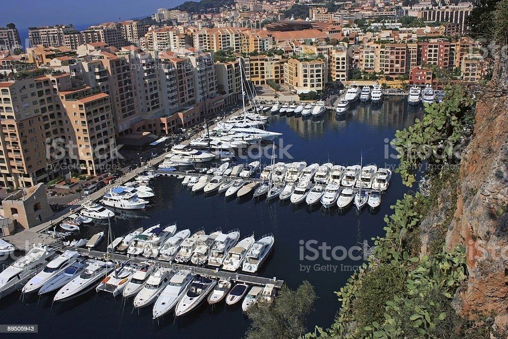 Monaco harbour royalty-free stock photo