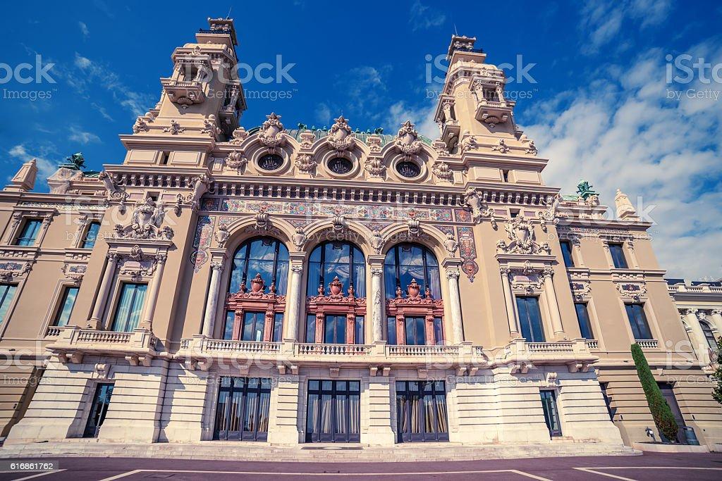 Monaco: Monte Carlo Casino, Grand Theatre stock photo