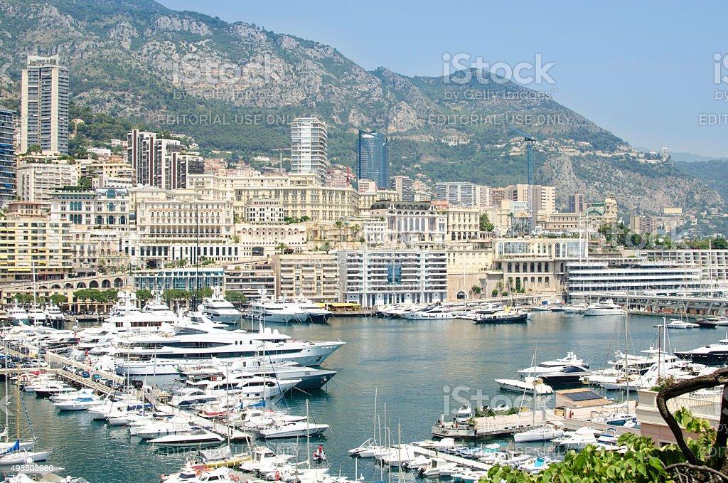 Monaco Monte Carlo harbour impression stock photo