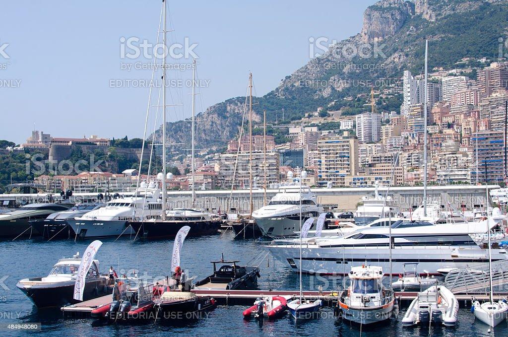 Monaco Monte Carlor harbour stock photo