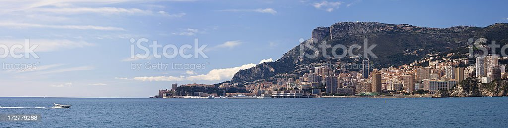 Monaco (Monte Carlo) panoramic royalty-free stock photo
