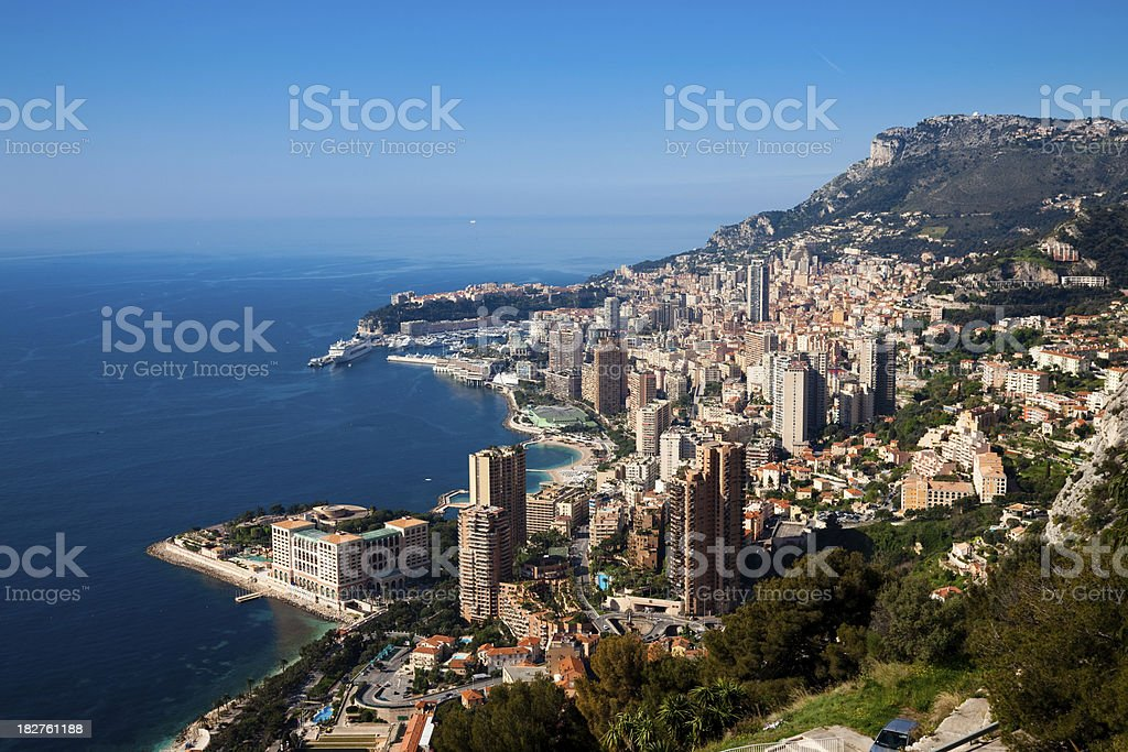 Monaco (Monte Carlo) panoramic stock photo
