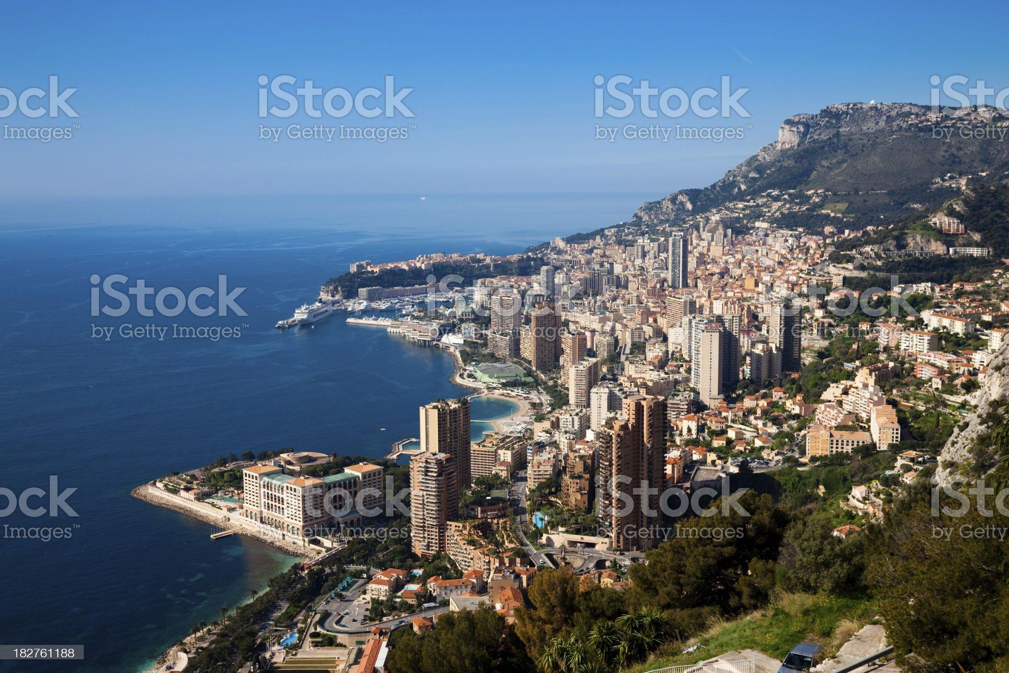Monaco (Monte Carlo) panoramic royalty-free stock photo