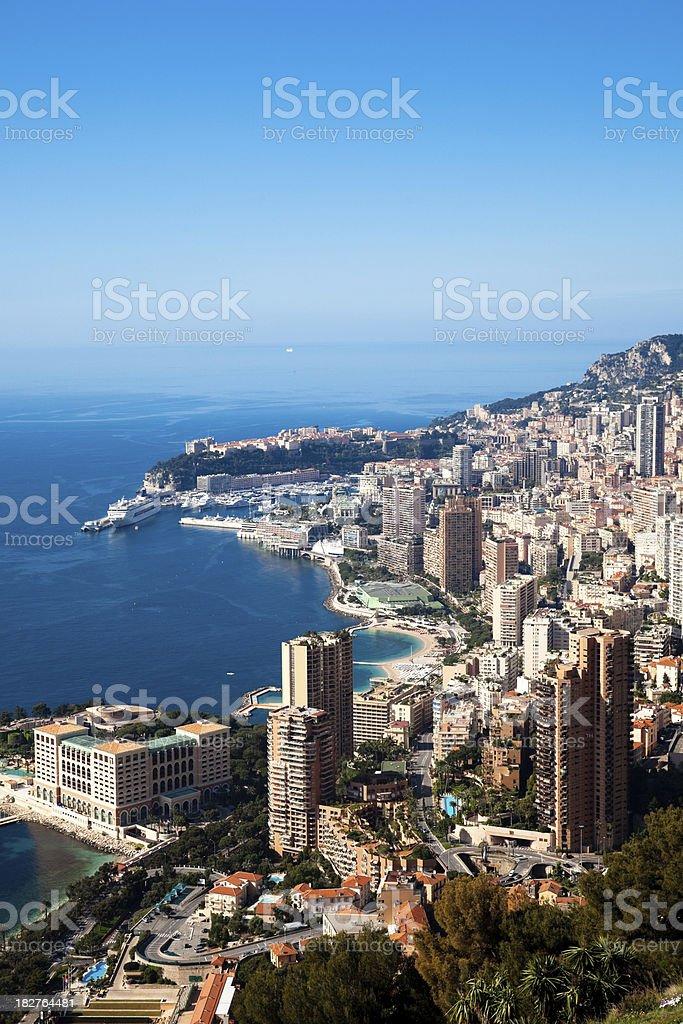 Monaco (Monte Carlo) panoramic (vertical) royalty-free stock photo
