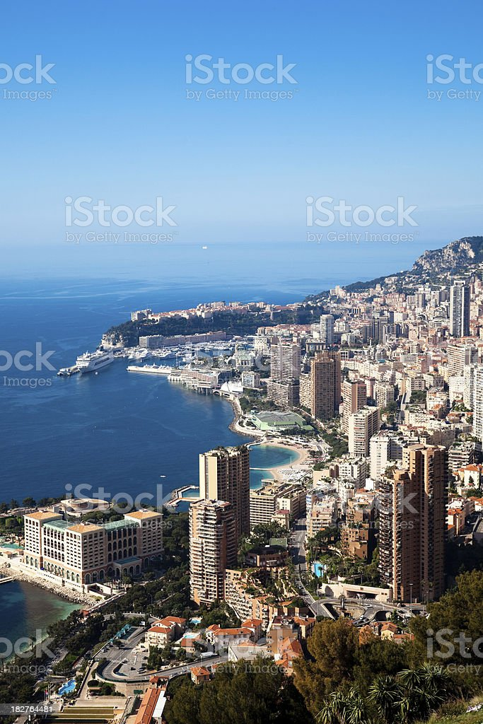 Monaco (Monte Carlo) panoramic (vertical) stock photo