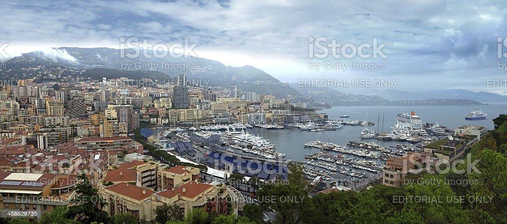 Monaco - Port panoramic view royalty-free stock photo