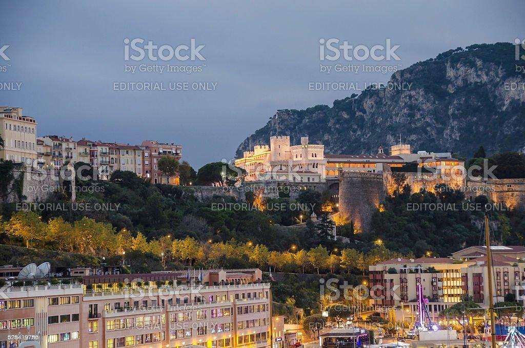 Monaco Prince's Palace stock photo