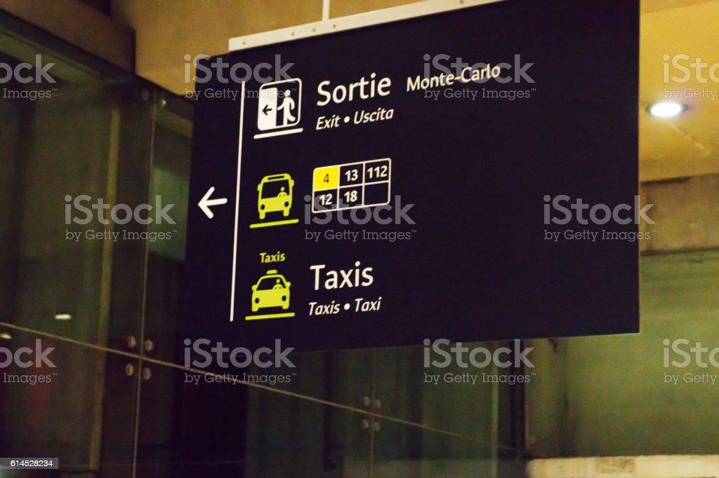 Monaco rail station stock photo
